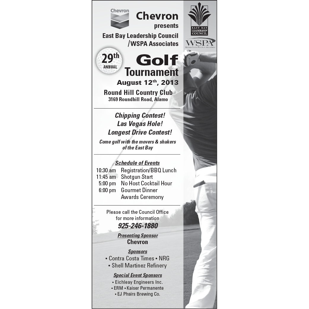 East Bay Leadership Council Golf Tournament Ad