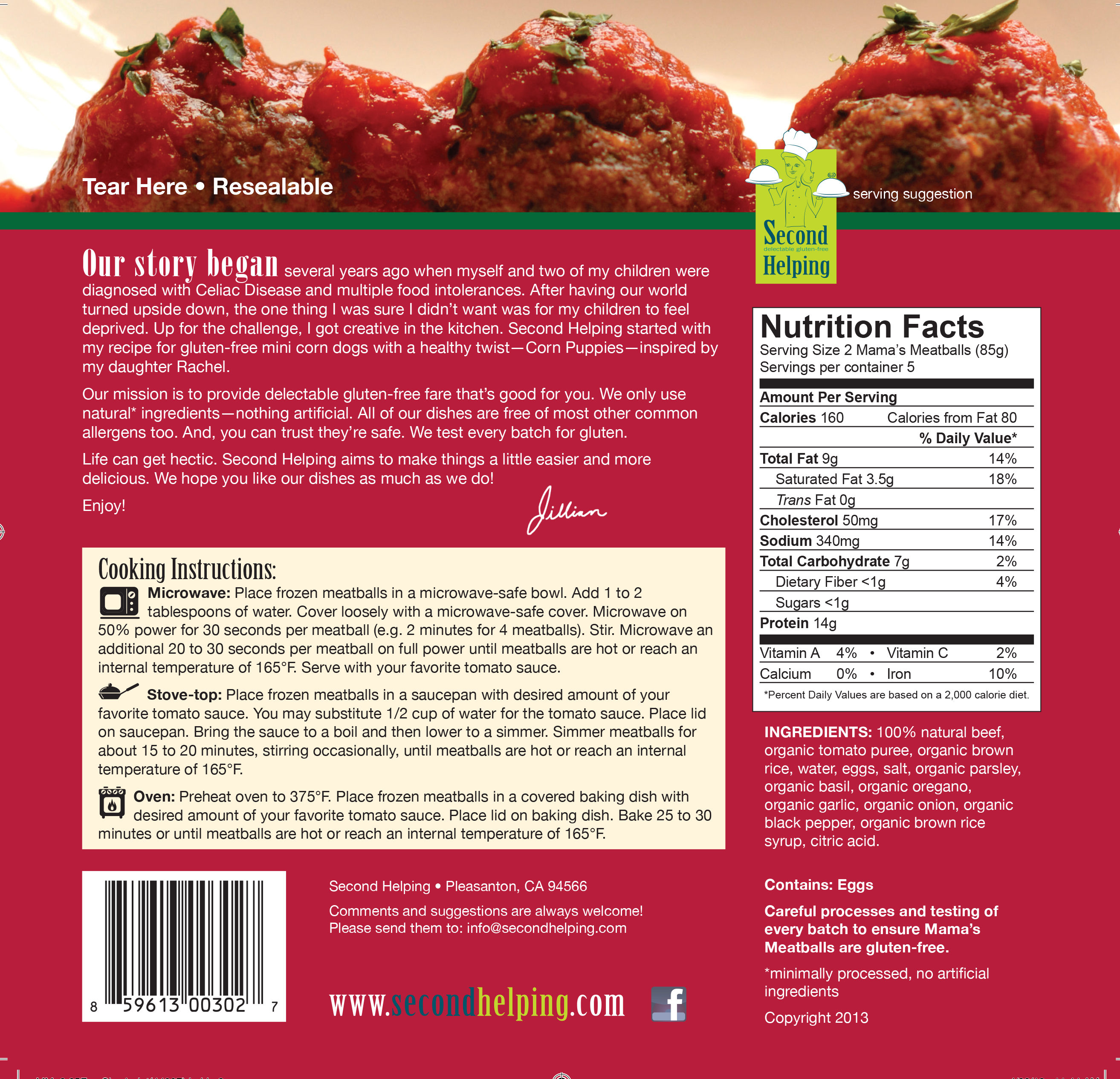 Mama's Meatballs packaging
